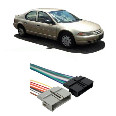 plymouth breeze 1996-1999 factory stereo to aftermarket ... 64 plymouth fury wiring harness #11
