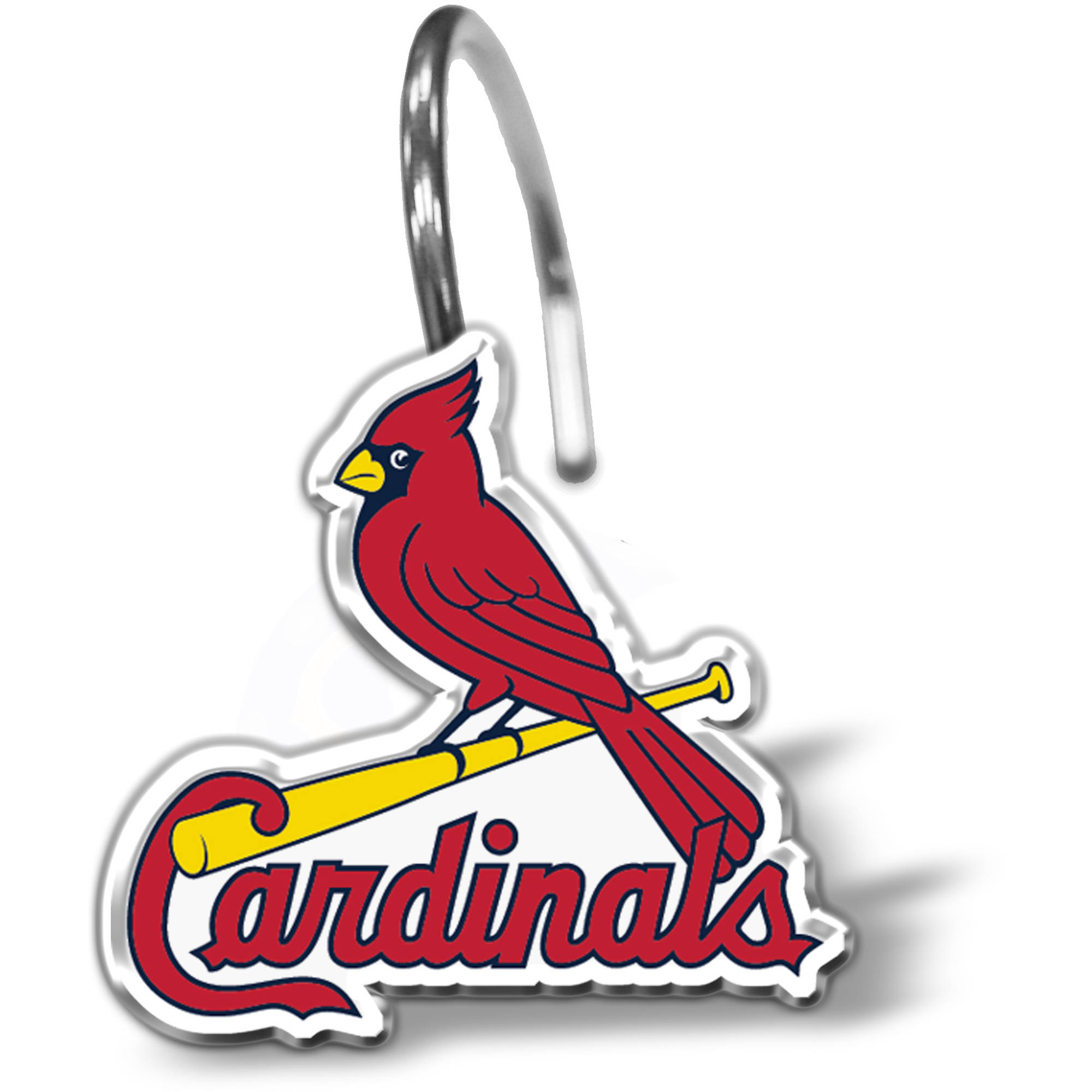 MLB St. Louis Cardinals 12-Piece Shower Curtain Ring Set