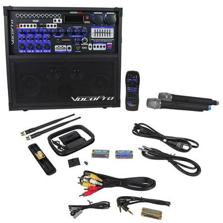 (Vocopro HERO-REC 6 DVD/CD-G Karaple Portable PA System w/ Recording+2 UHF Mics)