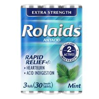 Rolaids Extra Strength Antacid Chewable Tablets, Mint - 10 Ea, 3Pack, 2 Pack