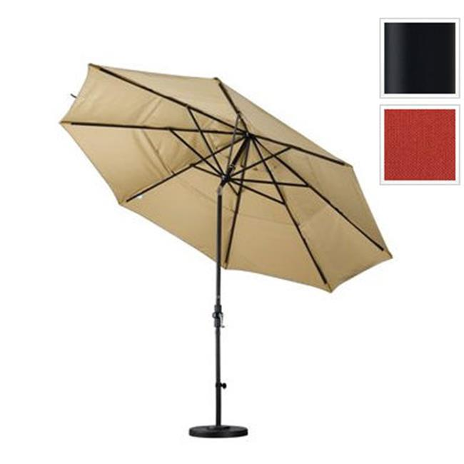 11 ft. Aluminum Market Umbrella Collar Tilt DV Matted Black-Pacifica-Tuscan
