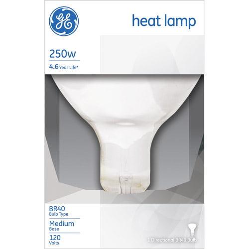 Ge 250-watt r40 heat lamp, 1-pack - Walmart.com