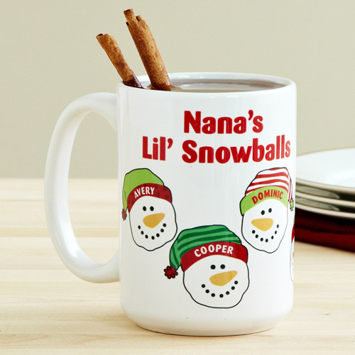 Personalized Women's Lil' Snowballs 15 oz Mug