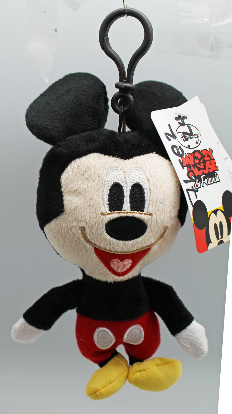 Disney's Mickey Mouse Small Plush Toy w Clip and Secret Pocket by