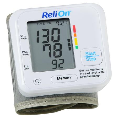 Relion Bp200w Wrist Blood Pressure Monitor Walmart