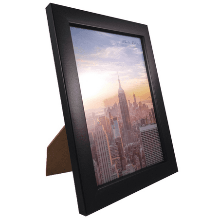 - Frame Amo 6x8 Black Contemporary Wood Picture Photo Frame, Flat Border