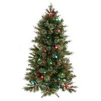 Regency Twinkle Cottonwood Prelit Artificial Tree 5'