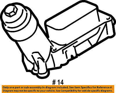 Chrysler Oem Engine Oil Filter Housing 68105583ac
