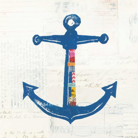 Nautical Collage III on Newsprint Poster Print by Courtney -
