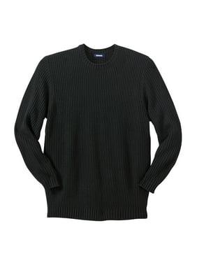 KingSize Men's Wide Width Knit Crewneck Sweater