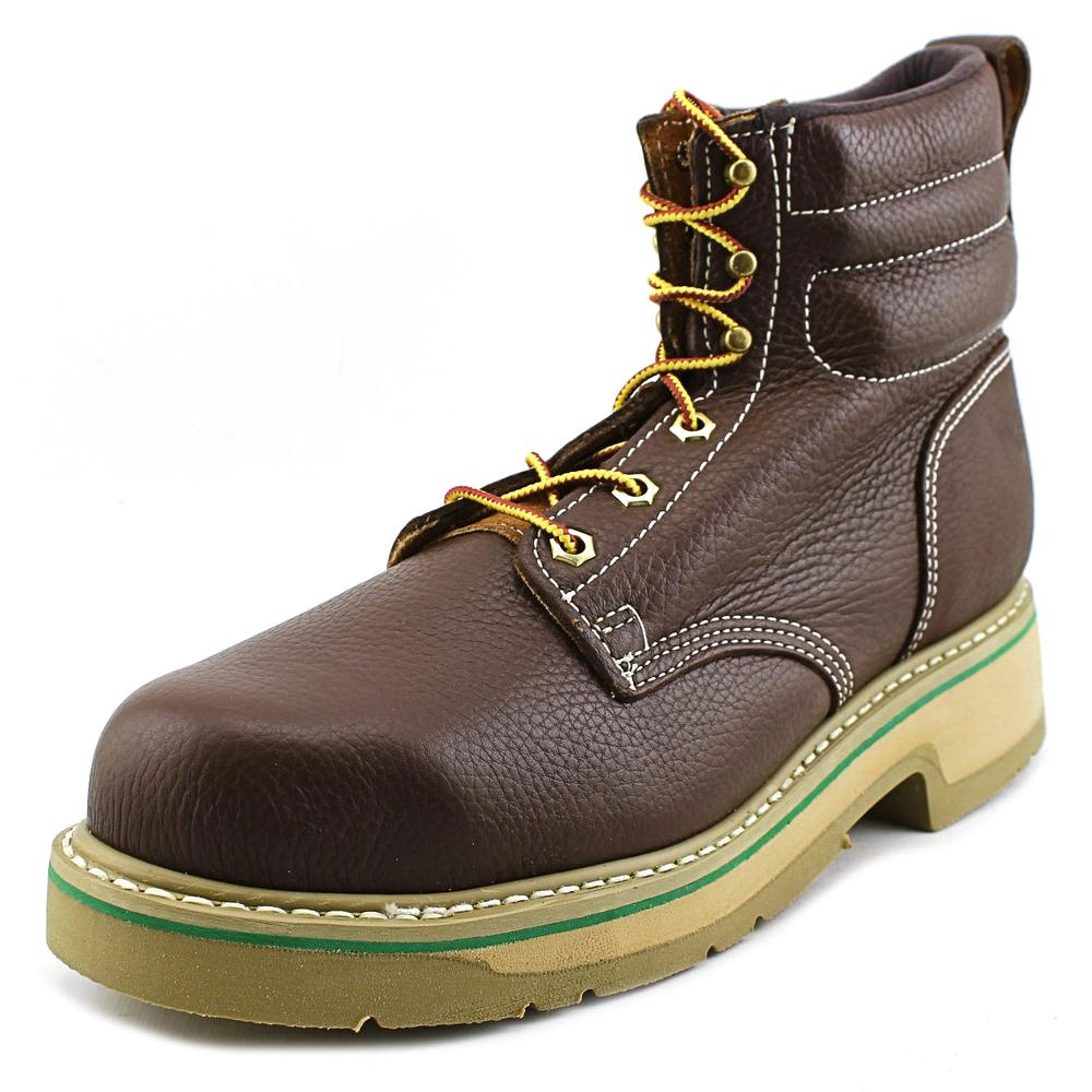 HyTest by Wolverine 089721  Men US 9.5 Brown Steel Toe Work Boot