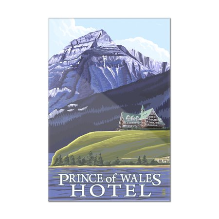 Waterton Natl Park  Canada   Prince Of Wales Hotel   Lp Original Poster  8X12 Acrylic Wall Art Gallery Quality