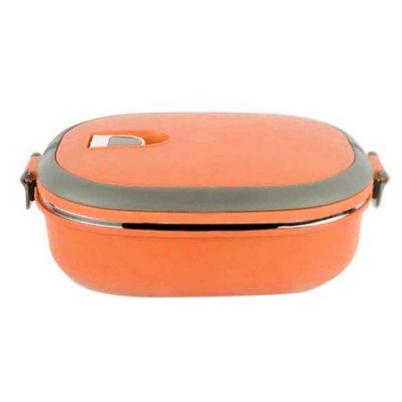 Single/Two Layers Rectangle Stainless Steel Lunch Box Insulated Thermos Bento School Student Children Food Container