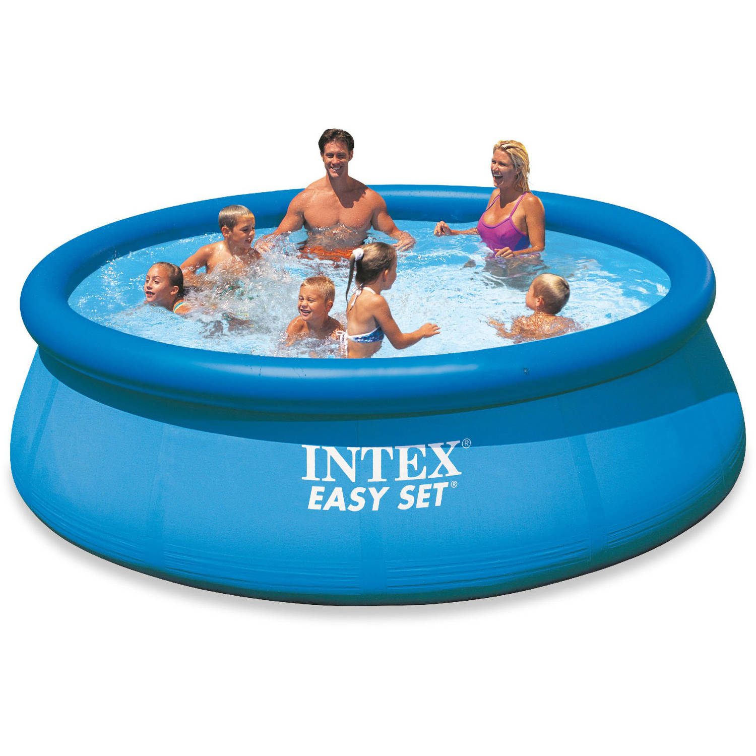 Intex 12' x 30'' Easy Set Above Ground Swimming Pool with Filter Pump