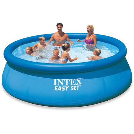 Intex 12 x 30u0022 Easy Set Inflatable Above Ground Swimming Pool Pump & Filter