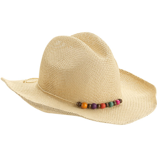Women's Straw Cowboy Hat With Mult Color