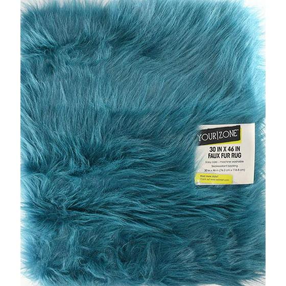 Blue Fuzzy Rug Rugs Ideas