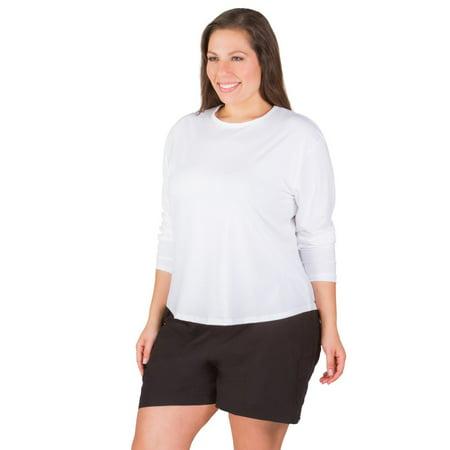 883c545c5a5 Sunshine Zone - Women s Plus Size Rashguard Long Sleeve Swim Top UPF 50+ -  Walmart.com