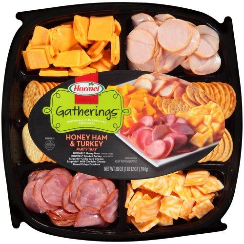 Hormel Gatherings Honey Ham & Turkey Party Tray, 28 oz