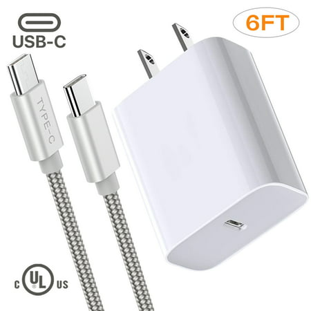 Infinite Power Adaptive Fast Charger Set For New Samsung Galaxy Note 10, 6ft Type-C(USB-C) Cable + Adaptive Wall Charger 18w, Fast Delivery Charger Delivery Note Set