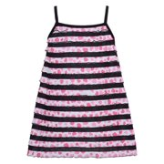 Lipstik Little Girls Black Trim Stripe Pink Printed Sleeveless Top 4