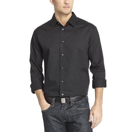 Van Heusen Pilot Shirt (Van Heusen Men's Sateen Striped Spread Collar Shirt)