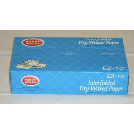 Handy Wacks EZ15P, 15x10-3/4-Inch Interfolded Medium Grade Dry Waxed Paper, 500-Piece Pack](Wack A Pack)