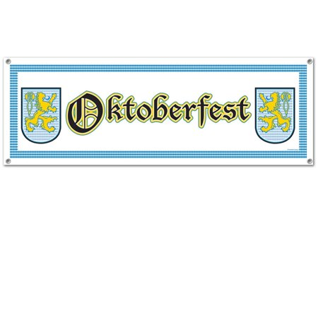 """Club Pack of 12 All-Weather Decorative """"Oktoberfest"""" Party Sign Banners 5'"""