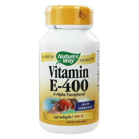Natures Way vitamine E - 400 UI - d-Alpha Tocopherol- 100 Gélules