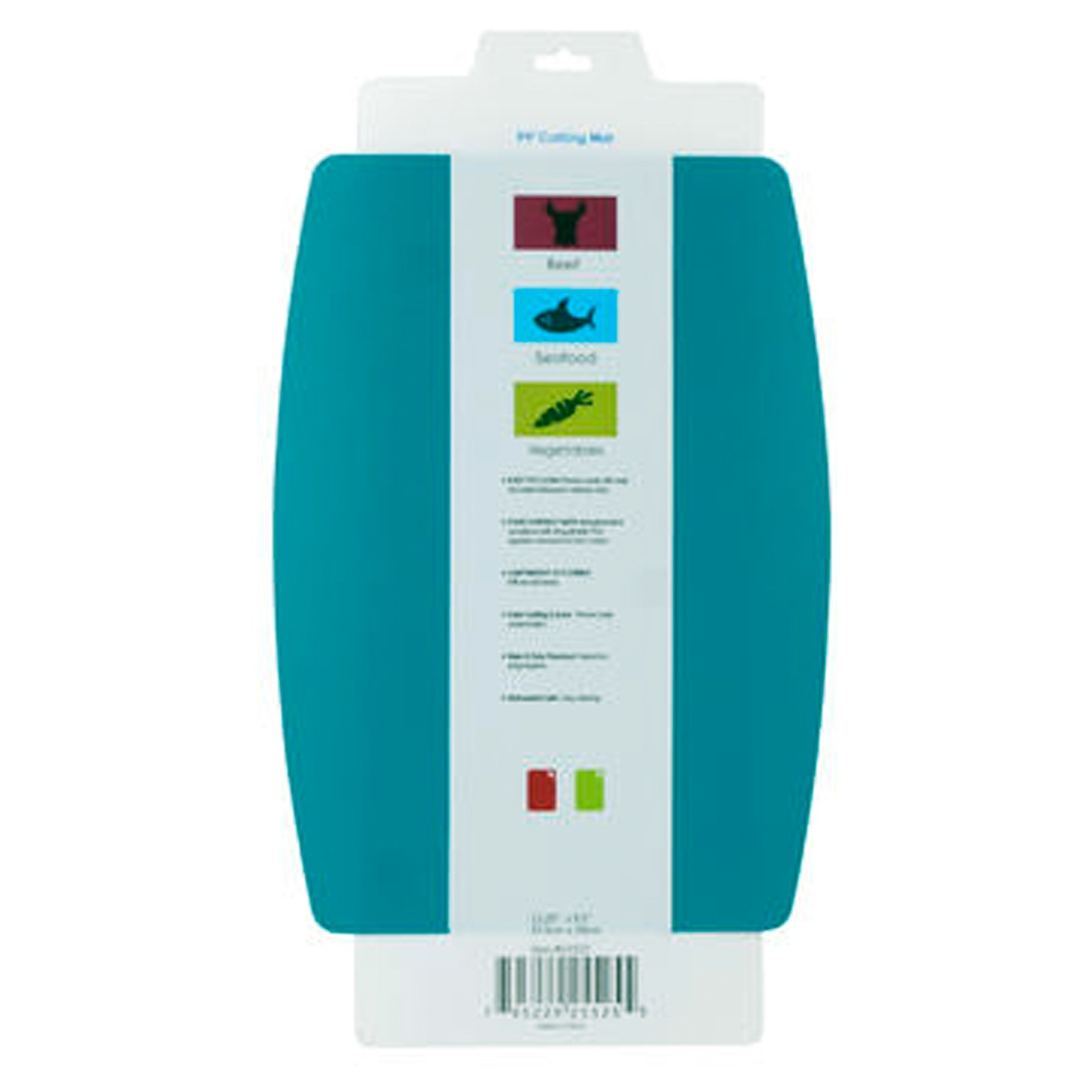 Universal Home Non-slip Flexible Cutting Mat Food Contact Dishwasher Safe - Teal