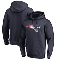 New England Patriots NFL Pro Line by Fanatics Branded Splatter Logo Pullover Hoodie - Navy