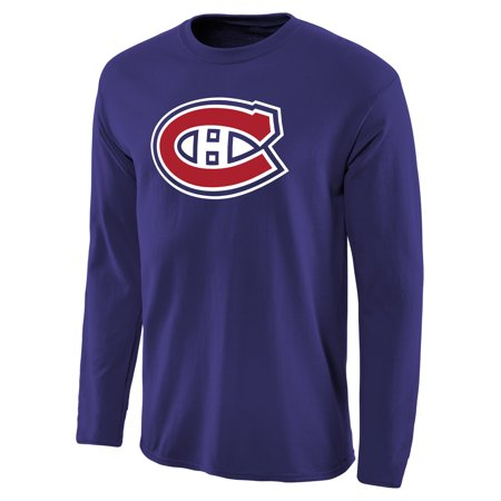 Montreal Canadiens Team Primary Logo Long Sleeve T-Shirt - Royal