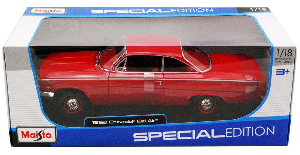 Maisto 1962 Chevrolet Bel Air Light Blue 1:18 Diecast Model Car by Diecast Dropshipper