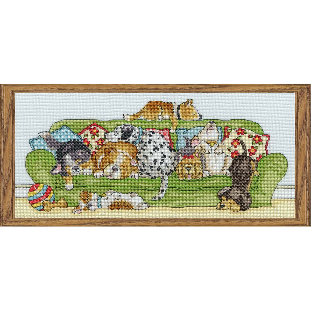 Bothy Threads Lazy Dogs Counted Cross-Stitch Kit
