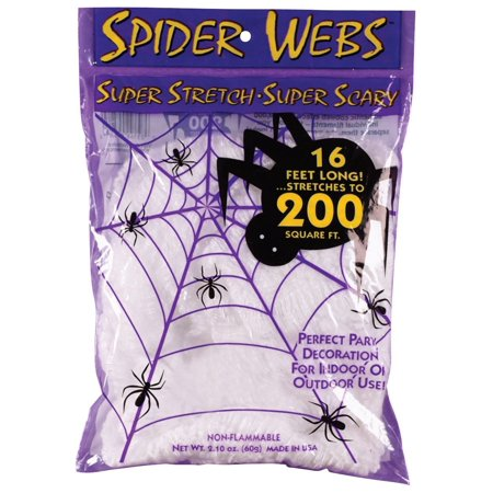 Super Stretch Spider Web   16 Foot  Fun World As Shown  Usa  Brand Fun World Costumes