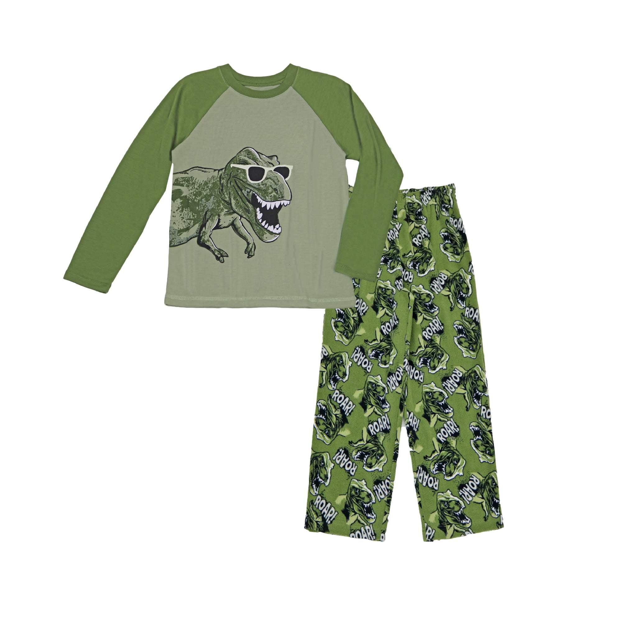 Boy's Dinosaur Graphic 2 piece Sleepwear Set