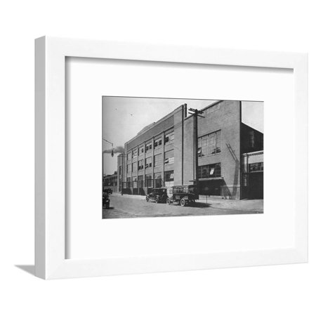 Exterior of kiln and mill building, West End Plant, Fisher Body Company, Detroit, Michigan, 1923 Framed Print Wall Art