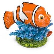Penn Plax Finding Nemo On Coral Mini Aquarium Ornament