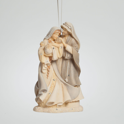 Enesco Foundations 4041926 Holy Family Ornament  NIB