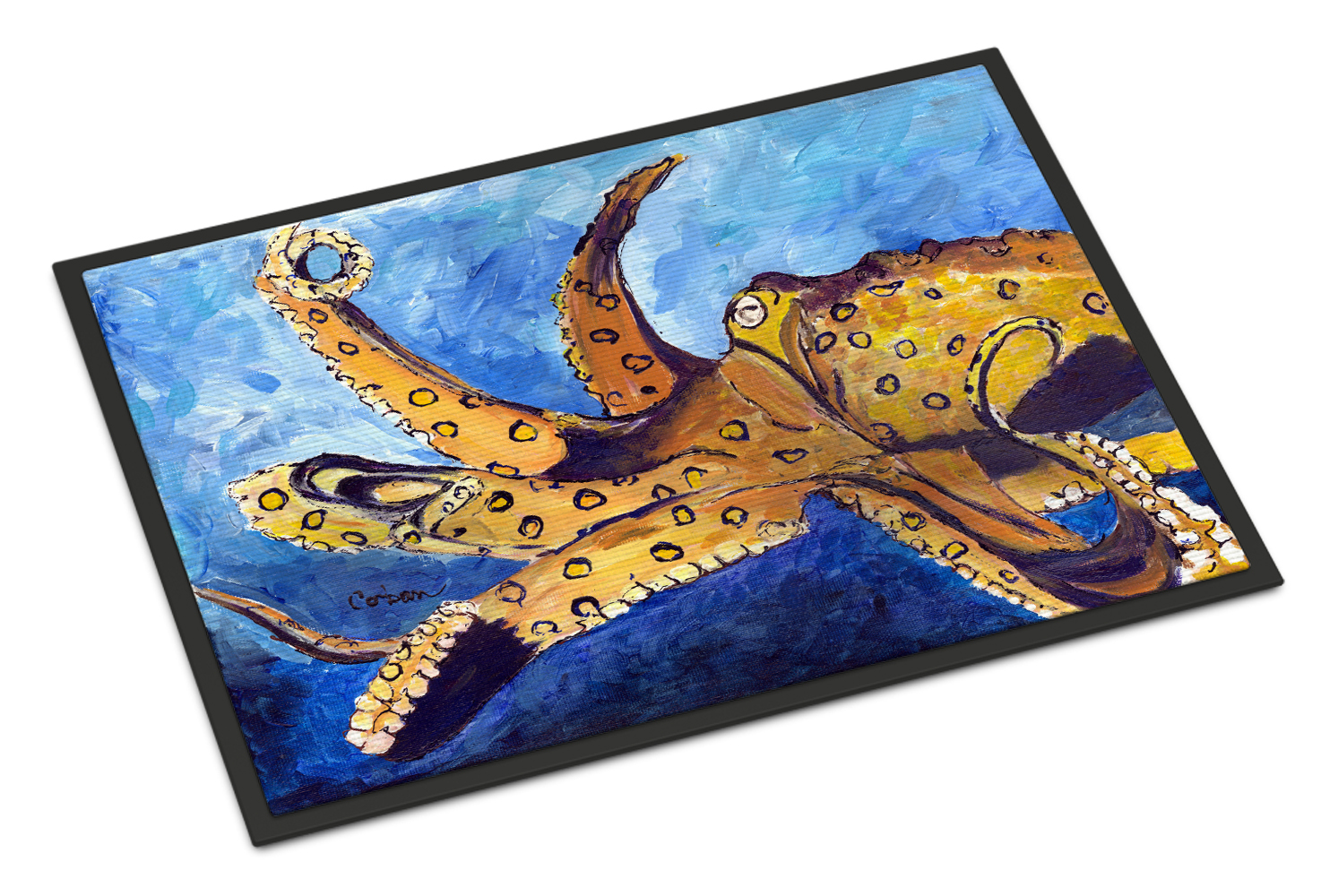 Carolines Treasures Octopus Floor Mat 19 H x 27 W Multicolor