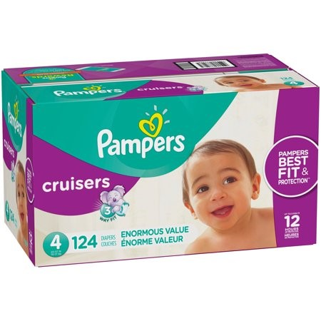 Pampers Cruisers Diapers (Choose Size and Count), Size 4, 124 Count by Pampers