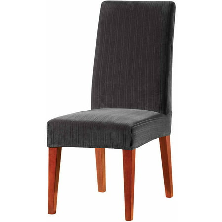 Prime Sure Fit Stretch Pinstripe Short Dining Room Chair Slipcover Uwap Interior Chair Design Uwaporg