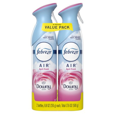Febreze AIR Effects Air Freshener with Downy April Fresh Scent (2 Count, 17.6 oz) Motorized Fresh Air