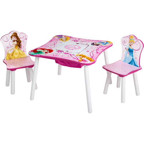 Disney Princess Toddler Table and Chair Set with Storage by Generic