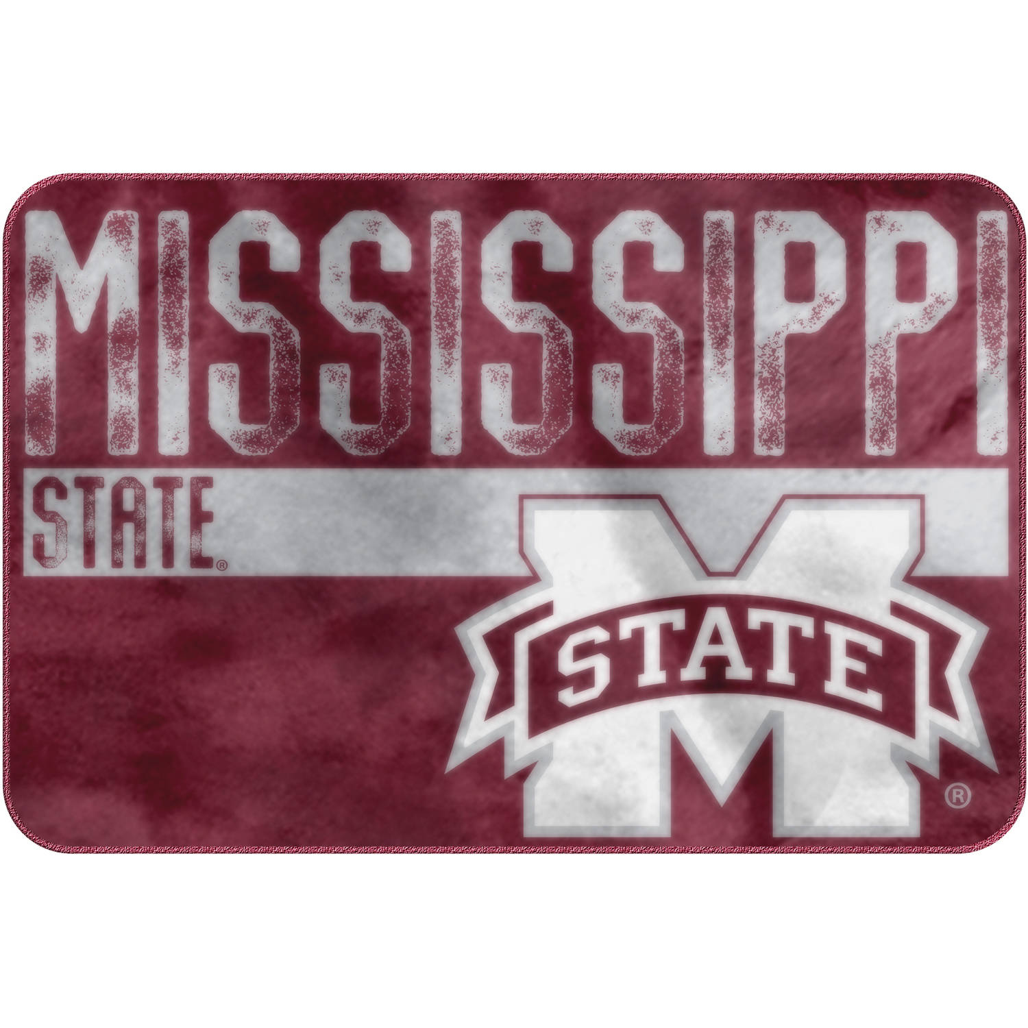 "NCAA Mississippi State Bulldogs ""Worn Out"" Mat, 20"" x 30"""