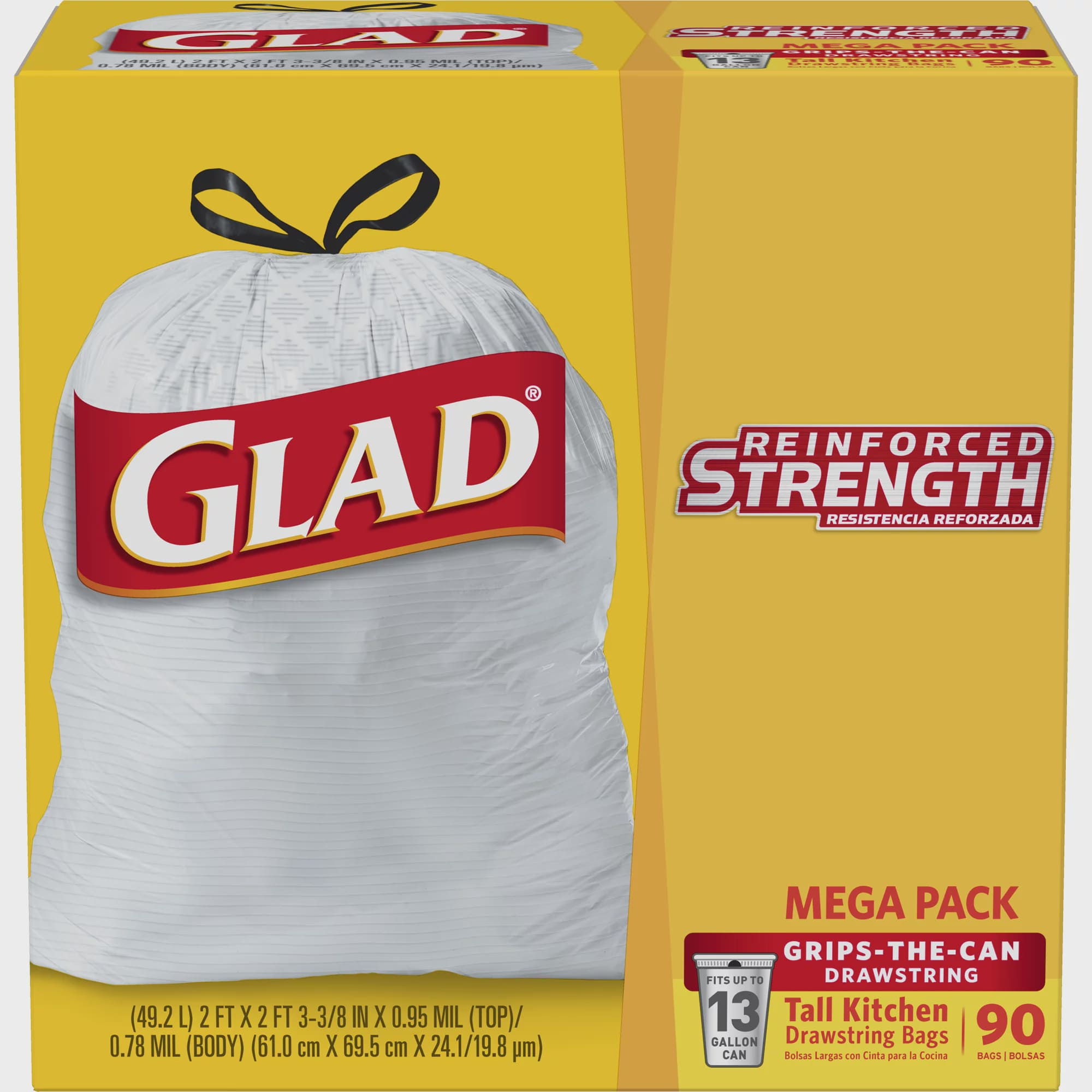 "Regular 36//19.5/""X20/"" 6 packs Glad® Drawstring Kitchen Catchers® Garbage Bags"