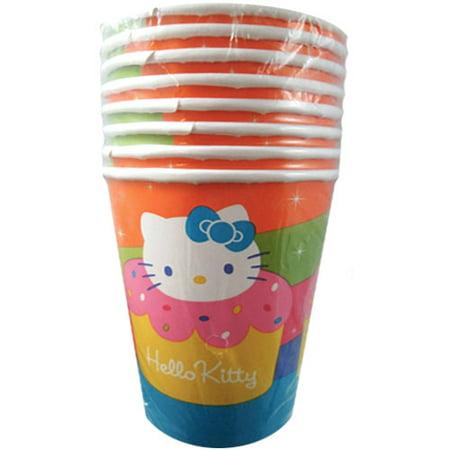 Hello Kitty 'Cupcake' 9oz Paper Cups (8ct) - Hello Kitty Halloween Cupcakes