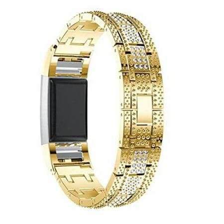 HC-TOP DiamondMetal Bracelet Watchband Replacement Watchband Rhinestone Comfortable - image 6 of 7