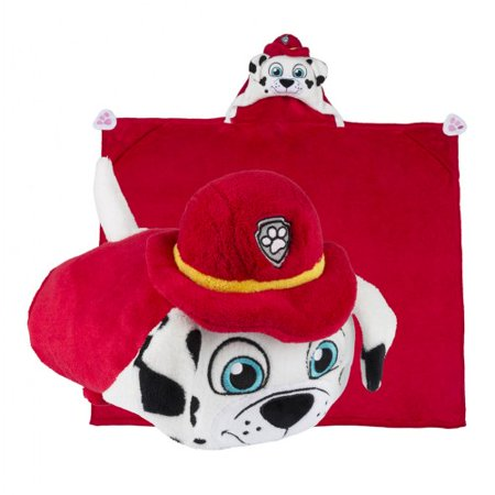 COMFY CRITTERS - NICKELODEON PAW PATROL - MARSHALL HUGGABLE HOODED BLANKET