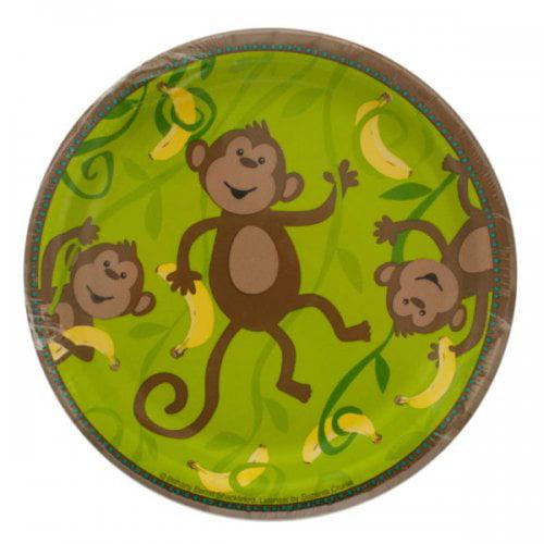 Small Monkeyin' Around Party Plates Set